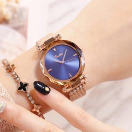 Reloj Scollie Azul Dorado