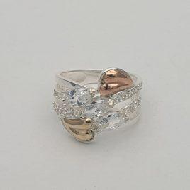 Anillo oro-plata