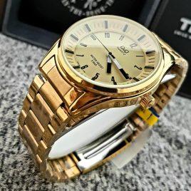 Reloj  QyQ  Dorado para hombre