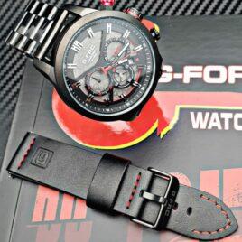 Reloj G-force doble pulso metalico y cuero